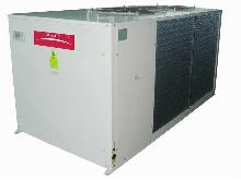 Air Cooled Water Chiller and Heat Pump with Axial Fans, Scroll Compressors and Storage Tank