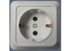 Outlet socket mounted