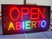Colorful Outdoor Led Open Sign