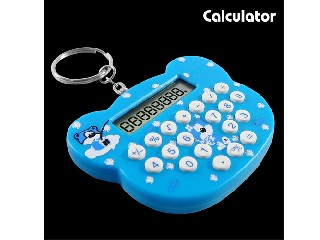 8 digits calculator with keyring