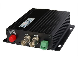 2ch video + 1ch RS 485 data Optical Video Converter