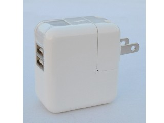 5V2.1A dual USB wall charger for iPhone/iPad,Samsung, US/EU/UK plugs