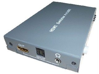 HDMI switcher with with SPDIF and 3.5mm stereo Mini-Jack