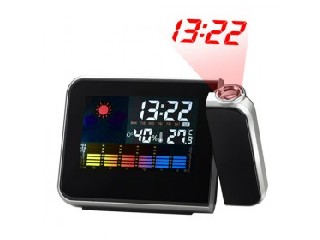 Multi-Function Digital Weather Station Projection Alarm Clock