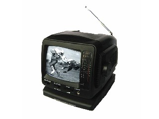 5.5 inch Black and White CRT TV with AM/FM Radio