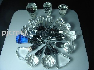 crystal wine bottle stopper for corporate gift