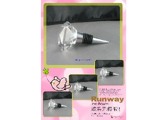 Crystal Wine Stopper,crystal gift for wedding decoration or favors