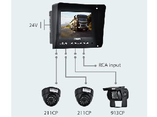 "5.6 "" LCD Color Rearview System (CS068C)"