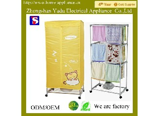 Design for hotel!YD-20 3 layers squre towel 15kg capacity electric hotel clothes dryer