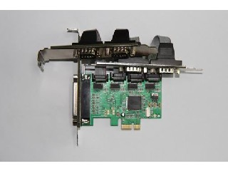 PCI-E 4 Ports Serial and 1 Port parallel card