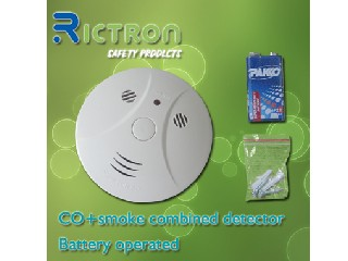 Battery Powered Photoelectric Wireless Smoke and Co Detector( RC420COM)