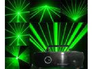 DMX512 / Computer-controlled 2W High Power Green Animation Stage Laser Lighting