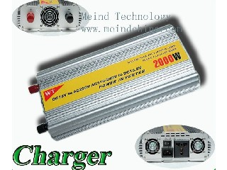 2000W Modified Sine Wave Built-In Charger DC to AC  Power Inverter with Universal Socket