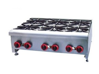 Table Top 6 Burner Portable Electric Cooking Range For Restaurant  / Hotel