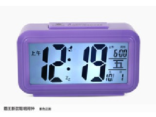 2014 calendar Digital table LCD alarm clock with light and snooze function