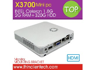 Mini PC Windows 7 Thin Client With Celeron C1037U 1.8GHz With RJ45 USB 2.0 Full Alluminum ITX Mini N