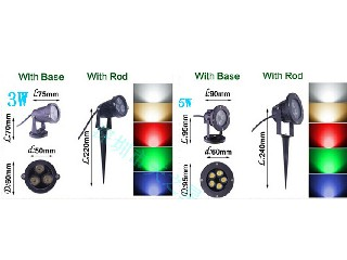 220VLED lawn light garden lights super bright light shining at the end 3w plug landscape outdoor tre