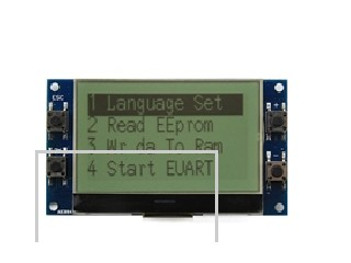 Intelligent display module  HTM13264Z  COG with PCB , FSTN, positive and transflective