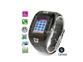 2015 Watch Mobile Phone with Button Camera Bluetooth FM Bluetooth SMS Single SIM Card GSM 900 1800 1