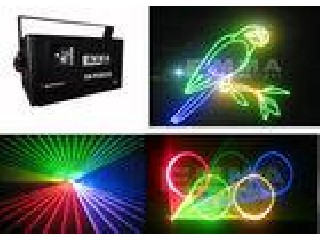 1W Dmx Stage Rgb Laser Light  Ktv / Stage Laser Light Projector