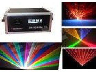 Outdoor 7W RGB Full Color Club Laser / Disco laser light Show Projector