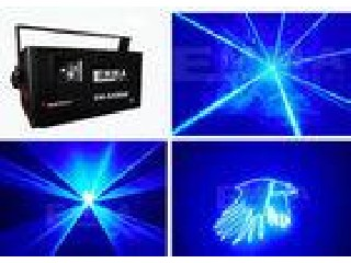 2W Blue DJ Laser Lights With High Speed Optical Scanner For Store Decor
