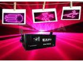 2W  Sound Active Pink Laser Lights Rotating Zooming For Advertisements
