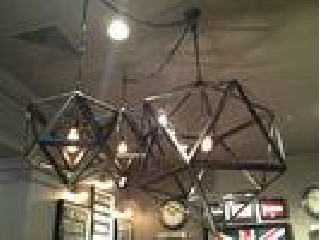 3 Size Industrial Vintage Lighting Changeable Iron cage Shape Diamond Pendant Lamp