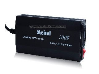 100W Thin Quiet DC to AC Modified Sine Wave Car Power Inverter with USB American Socket