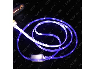 glow flash mirco charger cable 1M data bable for Samsungs3s4