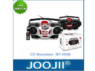High grade CD boombox radio with USB/SD/bluetooth/disco light MT-H858