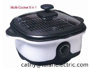 Multi-cooker 3in1, Slow cook, fry, steam, roast, grill, braise, fondue, scallop