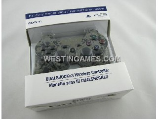 Bluetooth Wireless Controller New Blister Packing For Sony PS3 US Version - Camouflage #4