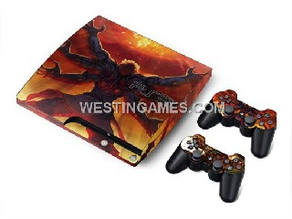 playstation 3 controller skin Crystal Epoxy Skin Sticker Colourful For PS3 Slim Console + 2 Controll