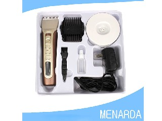 High Tech Rechargeable Lithium Ion Battery Hair Trimmer with 5 Attachments as seen on tv