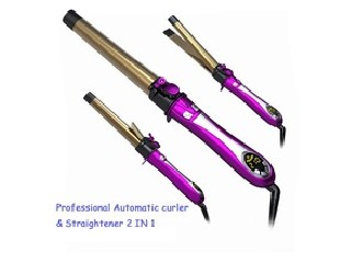 2015 new design factory whole goods LCD 2 IN 1 Hair Straightener and Curler