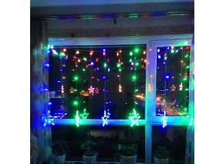 star curtain string lights Star Curtain Lights