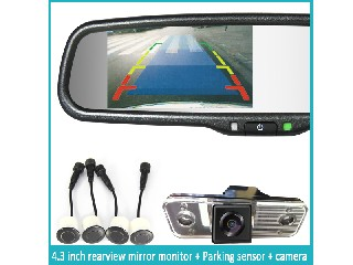 Honda Suzuke rearview mirror 4.3 tft lcd high light monitor 2 av input