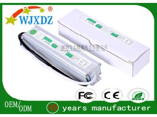 Professional 60W 5A Waterproof LED Power Supply 12V LED Driver For Stage Lighting WJX-WS-60W-12V
