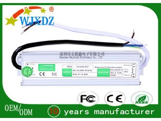 3.75A Waterproof LED Power Supply 45W , LED Lighting Power Supplies WJX-WS-40W-12V