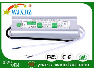Outside 150W 12.5A IP67 LED Power Supply For LED Strip Lights / Security Monitor WJX-WS-150W-12V