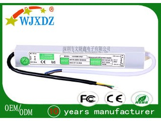 12 Volt 3A Waterproof Outdoor Switching Power Supply 36W LED Driver IP67 WJX-WS-36W-12V