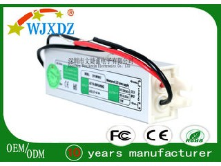 0.83A Waterproof LED Power Supply 10W With Short Circuit / Over Load Protection WJX-WS-10W-12V