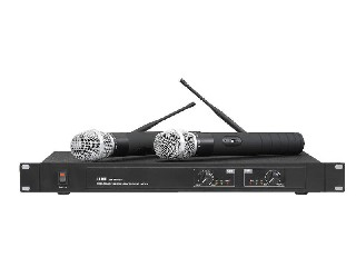 7600 wireless microphone system UHF PRO Dual channel 2 MICS rack mountable low price LS-7600