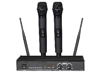 902 wireless microphone system UHF Pro dual channel rechargeable handheld half rack size LS-902
