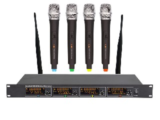 4800 4 channels UHF wireless microphone system LCD color screen 4MICS rack mountable LS-4800