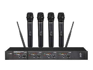 6044 4-channels UHF wireless microphone system 4 MICS mikrofon Module design rechargeable LS-6044
