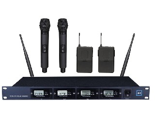 4500 4-channels UHF wireless microphone system LCD display 4 modules fixed frequency MICS LS-4500