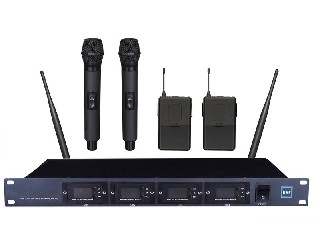 4600 4-channels Infrared wireless microphone system UHF Module structure LCD screen LS-4600