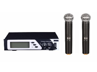 802 multi channel Infrared wireless microphone system UHF selectable LCD display half rack LS-802